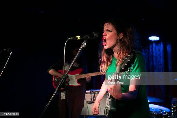 Carlotta Cosials of Hinds performs at The Academy on November 29 2016 in Dublin Ireland