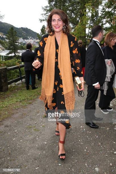 Carlotta CramerKlett during the wedding of Prince Konstantin of Bavaria and Princess Deniz of Bavaria born Kaya at the french church 'Eglise au Bois'...