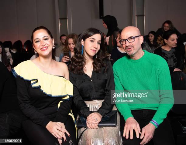 Carlotta Di Girolamo and Raffaela Granato attend Jordan Fashion Week 019 at the Kempinski Amman on March 30 2019 in Amman Jordan