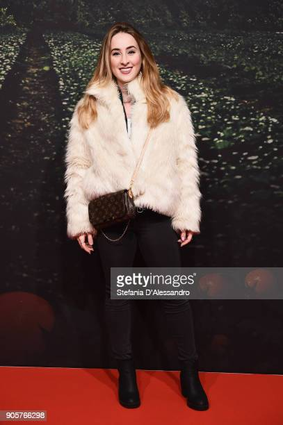 Carlotta Ferlito attends the 'Il Vegetale' photocall on January 16 2018 in Milan Italy