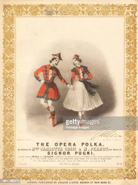 Carlotta Grisi and Jules Perrot in La Polka by Cesare Pugni , Between 1844 and 1847. Private Collection.