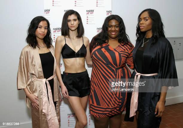 Carlotta Harrington and models attend FashionMeNotcom Website Launch Media Preview on February 15 2018 in New York City
