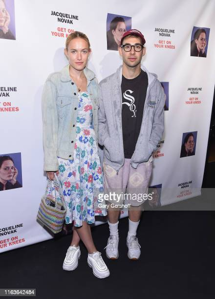 """Carlotta Kohl and Jack Antonoff attend the opening night of """"Jacqueline Novak: Get On Your Knees"""" at Cherry Lane Theatre on July 22, 2019 in New York..."""