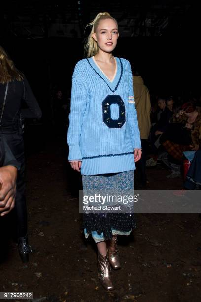Carlotta Kohl attends the Coach 1941 fashion show during New York Fashion Week on February 13 2018 in New York City