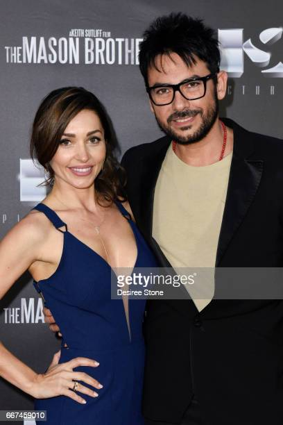 """Carlotta Montanari and Beto Cuevas attend the premiere of """"The Mason Brothers"""" at the Egyptian Theatre on April 11, 2017 in Hollywood, California."""