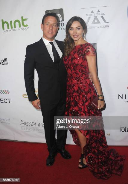 Carlotta Montanari and guest arrive for the Face Forward 8th Annual Gala held at Taglyan Cultural Complex on September 23 2017 in Hollywood California