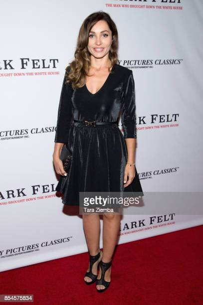Carlotta Montanari attends the premiere of Sony Pictures Classics' 'Mark Felt The Man Who Brought Down The White House' at Writers Guild Theater on...