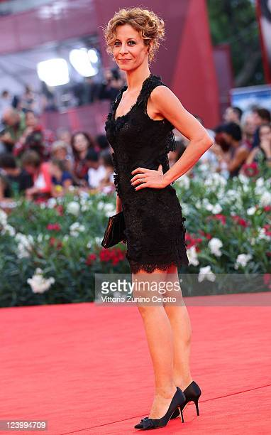 Carlotta Natoli attends the 'Quando La Notte' premiere during the 68th Venice Film Festival at Palazzo del Cinema on September 7 2011 in Venice Italy