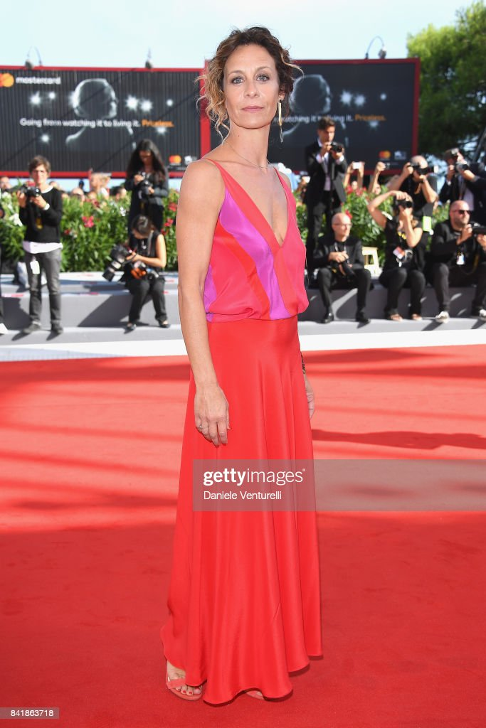 Carlotta Natoli from the movie 'Diva!' walks the red carpet ahead of the 'Foxtrot' screening during the 74th Venice Film Festival at Sala Grande on September 2, 2017 in Venice, Italy.