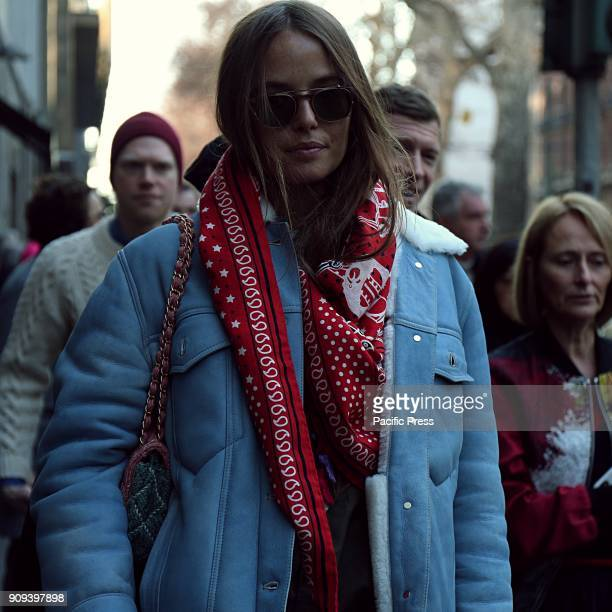 Carlotta Oddi on the street during the Milan Men Fashion Week