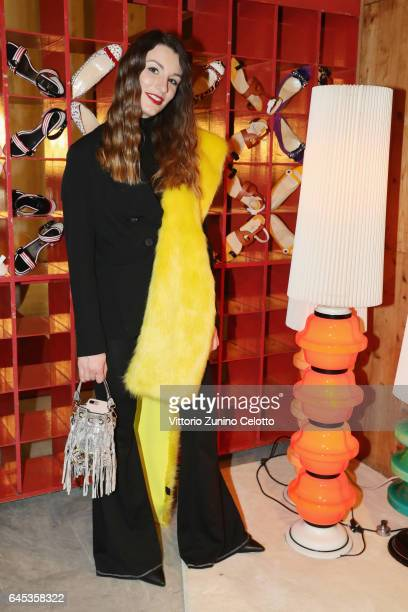Carlotta Rubaltelli attends Christian Louboutin Cocktail during Milan Fashion Week Fall/Winter 2017/18 on February 25 2017 in Milan Italy