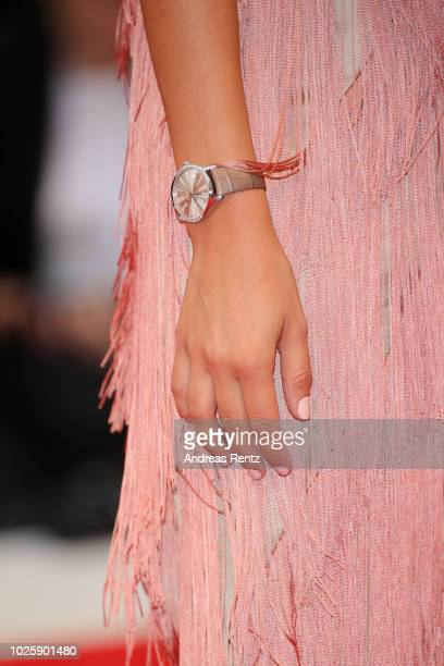 Carlotta Rubaltelli detail walks the red carpet ahead of the 'Suspiria' screening during the 75th Venice Film Festival at Sala Grande on September 1...
