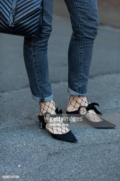 Carlotta Rubaltelli Levi's jeans and Proenza Schouler shoes during Milan Men's Fashion Week Fall/Winter 2017/18 on January 16 2017 in Milan Italy