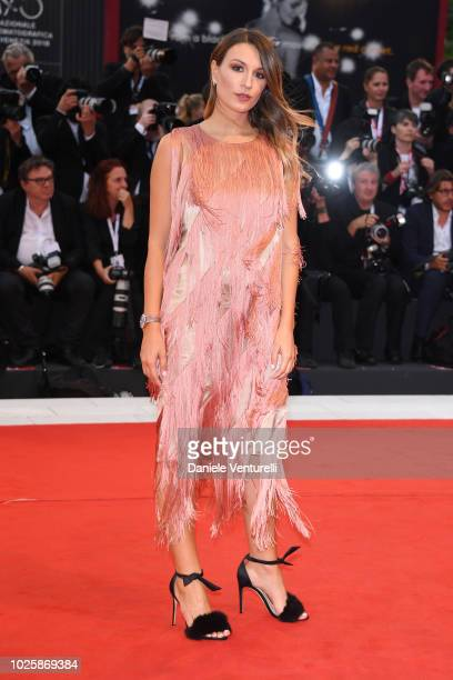 Carlotta Rubaltelli walks the red carpet ahead of the 'Suspiria' screening during the 75th Venice Film Festival at Sala Grande on September 1 2018 in...