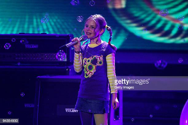 Carlotta Truman performs during the 3rd semi final of the TV show 'Das Supertalent' on December 12 2009 in Cologne Germany