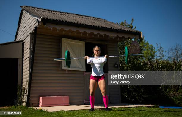Carlow , Ireland - 19 May 2020; Irish athlete Molly Scott during a training session at her home in Carlow while adhering to the guidelines of social...