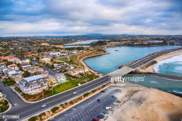 carlsbad california lagoon - carlsbad california stock pictures, royalty-free photos & images