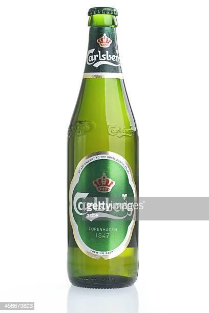 Carlsberg Bottle on White
