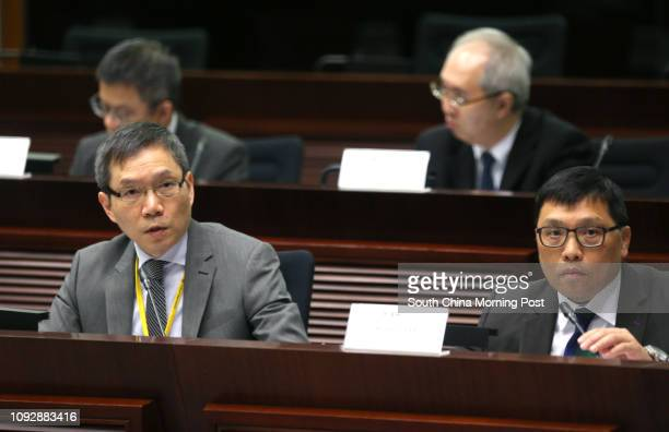 Carlson Chan KaShun Commissioner for Labour and Albert Lee Waibun Project Manager HK Zhuhai Macao Bridge HK Project Management office attends the...