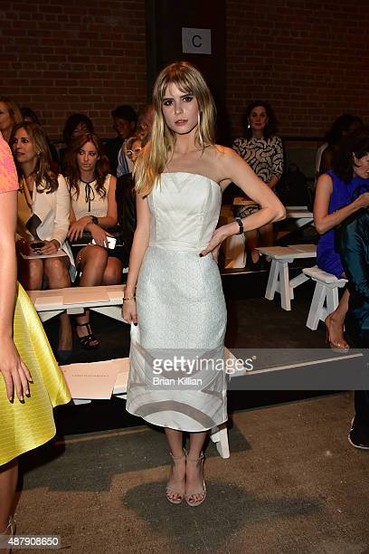 Carlson Young attends the Christian Siriano show during Spring 2016 New York Fashion Week at ArtBeam on September 12 2015 in New York City