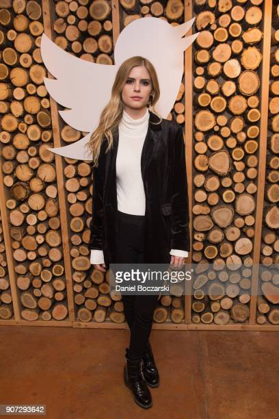 Carlson Young attends Twitter and ARRAYs #HereWeAre brunch at the #TwitterLodge during the 2018 Sundance Film Festival on January 19 2018 in Park...