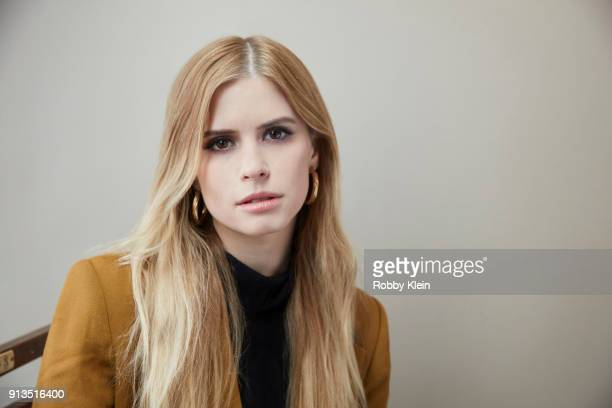 Carlson Young from the film 'The Blazing World' poses for a portrait in the YouTube x Getty Images Portrait Studio at 2018 Sundance Film Festival on...