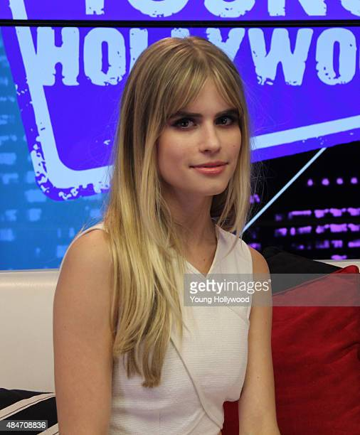 Carlson Young visits the Young Hollywood Studio on August 11 2015 in Los Angeles California