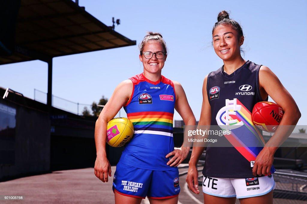 AFLW Pride Game Media Opportunity : Foto jornalística