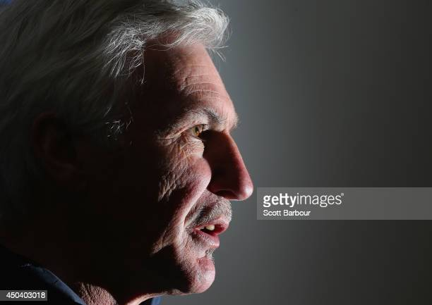 Carlton coach Mick Malthouse speaks to the media during a Carlton Blues AFL media session at Visy Park on June 11 2014 in Melbourne Australia...