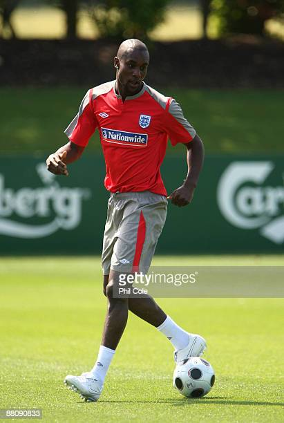 Carlton Cole during the England training session at London Colney on June 1, 2009 in St Albans, England.