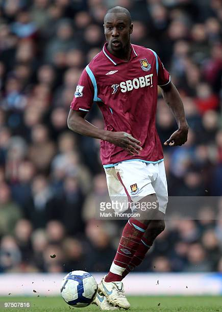 Carlton Cole of West Ham United in action during the Barclays Premier League match between West Ham United and Bolton Wanderers at the Boleyn Ground...