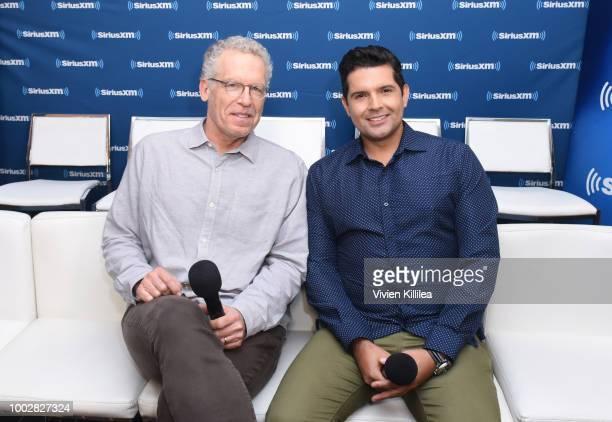 Carlton Cuse and Graham Roland attend SiriusXM's Entertainment Weekly Radio Broadcasts Live From Comic Con in San Diego at Hard Rock Hotel San Diego...