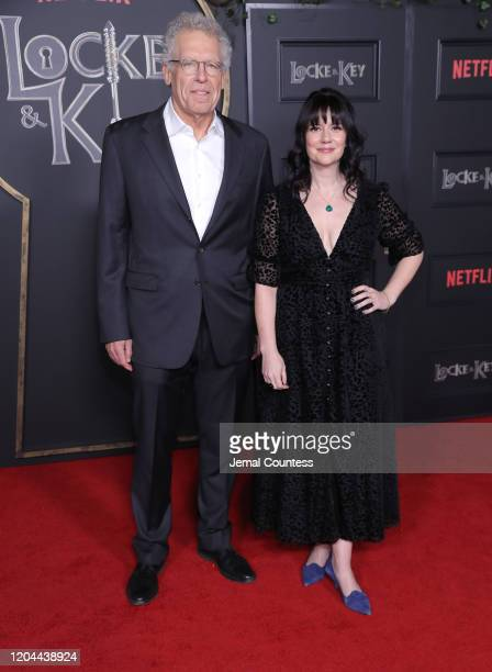 Carlton Cuse and Meredith Averill attend the Locke Key Series Premiere Photo Call at the Egyptian Theatre on February 05 2020 in Hollywood California