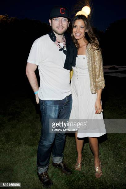 """Carlton DeWoody and Dianne Vavra attend THE CINEMA SOCIETY & DIOR BEAUTY host a screening of """"GREASE Sing-A-Long"""" at Katie Lee's Beach House on July..."""