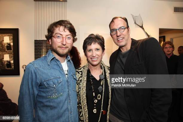 Carlton DeWoody Beth Rudin DeWoody and Maynard Monroe attend Opening of IN STITCHES Curated by BETH RUDIN DeWOODY at Leila TaghiniaMilani Heller...