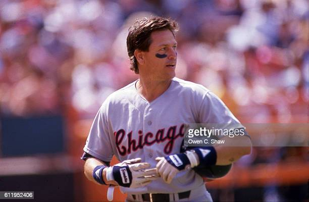 Carlton Fisk of the Chicago White Sox against the California Angels at the Big A in Anaheim California