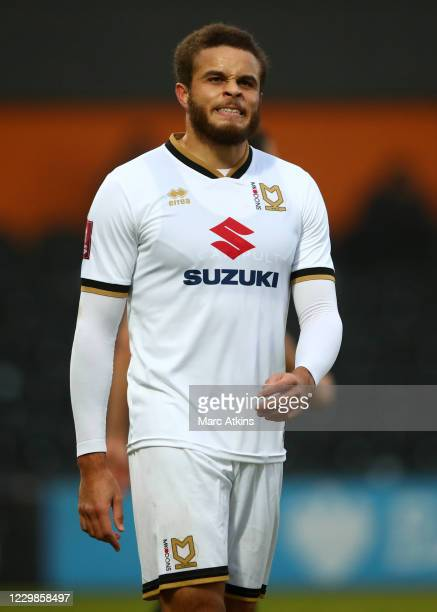 Carlton Morris of MK Dons during the Emirates FA Cup Second Round match between Barnet FC and Milton Keynes Dons at The Hive London on November 29,...