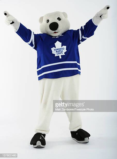 Carlton the Bear mascot for the Toronto Maple Leafs poses for a portrait during 2012 NHL AllStar Weekend at Ottawa Convention Centre on January 26...