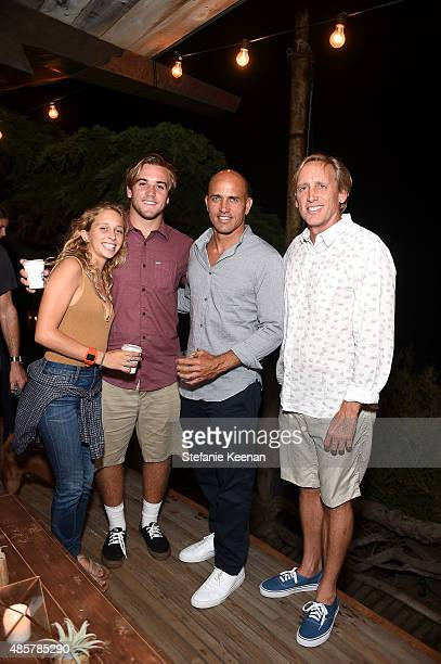 Carly Bizzack Pat McLaughin Kelly Slater and Jeff Bizzack attend Kelly Slater John Moore and Friends Celebrate the Launch of Outerknown at Private...