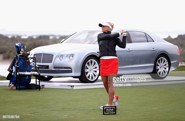 Carly Booth of Scotland in action during the Amateur Championship of the Abu Dhabi Invitational at Yas Links Golf Course on January 30 2016 in Abu...