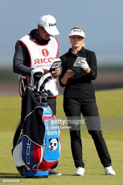 Carly Booth of Scotland looks on during the first round of the Ricoh Women's British Open at Kingsbarns Golf Links on August 3 2017 in Kingsbarns...