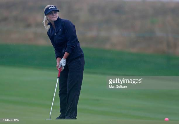 Carly Booth of Scotland misses a birdie putt on the 10th hole during the second round of the US Women's Open Championship at Trump National Golf...