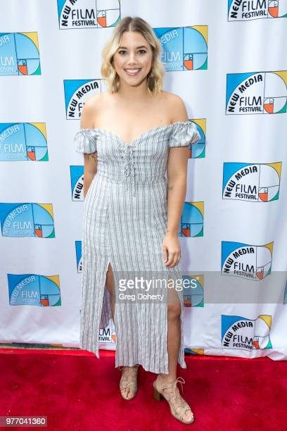Carly Casey attends the 9th Annual New Media Film Festival at James Bridges Theater on June 16 2018 in Los Angeles California