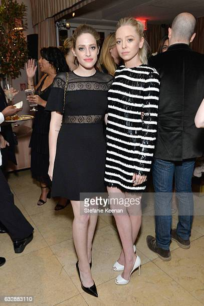 Carly Chaikin and Portia Doubleday attend Harper's BAZAAR celebration of the 150 Most Fashionable Women presented by TUMI in partnership with...