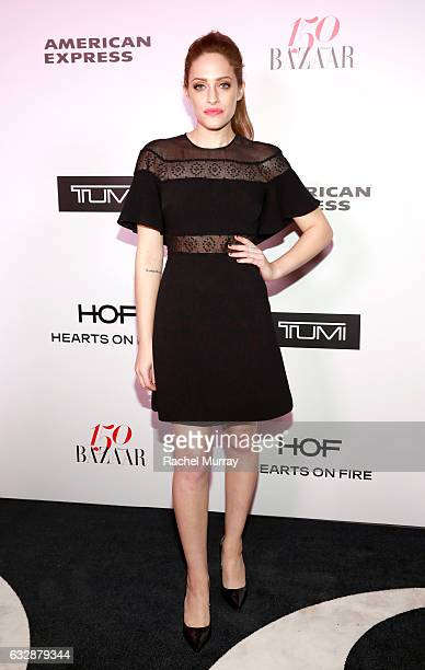Carly Chaikin attends Harper's BAZAAR celebration of the 150 Most Fashionable Women presented by TUMI in partnership with American Express La Perla...