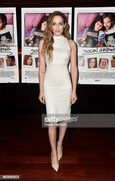 Carly Chaikin attends the Premiere of Paramount Pictures and Vertical Entertainment's Social Animals at The Landmark on May 30 2018 in Los Angeles...