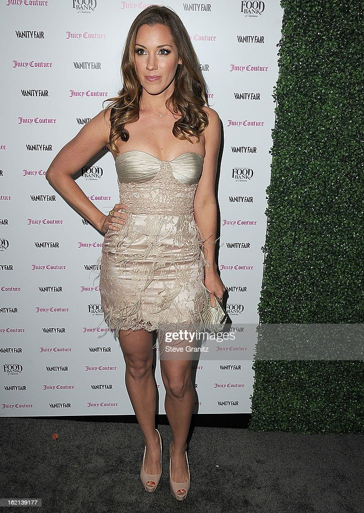 Carly Craig arrives at the Vanity Fair And Juicy Couture Celebration Of The 2013 Vanities Calendar With Olivia Munn at Chateau Marmont on February 18, 2013 in Los Angeles, California.