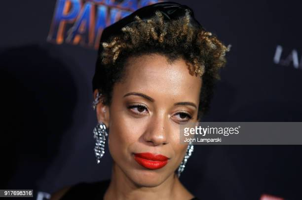 Carly Cushine attends Marvel Studios Presents Black Panther Welcome To Wakanda during February 2018 New York Fashion Week The Shows at Industria...