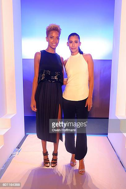Carly Cushnie and Michelle Ochs attend the Cushnie et Ochs front row during New York Fashion Week: The Shows at The Dock, Skylight at Moynihan...