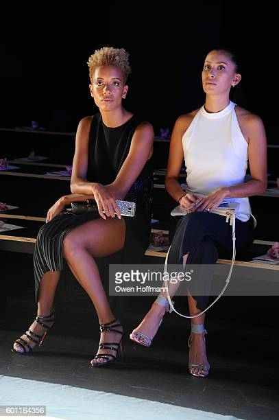 Carly Cushnie and Michelle Ochs attends the Cushnie et Ochs front row during New York Fashion Week: The Shows at The Dock, Skylight at Moynihan...